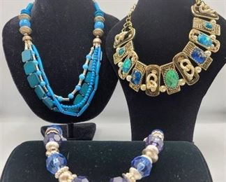 3 Colorful Statement Necklaces - Brand Lucia