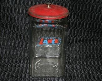 1503 Tall Lance Jar with Lid