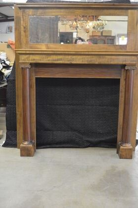 3701 Mahogany 42in Mantle with Mirror
