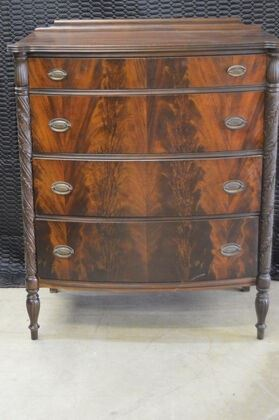 3703 Mahogany Acanthus Carved Chest