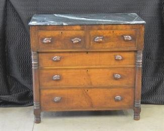 4664 Marble Top Mahogany Chest
