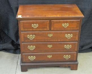 4666 Mahogany Banded Chest  Stanley