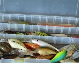 7522 Lg. Case with Fishing Lures
