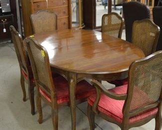 6808 French Table with 6 Cane Back Chairs