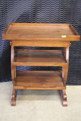 3706 Three Tier Table with Drawer