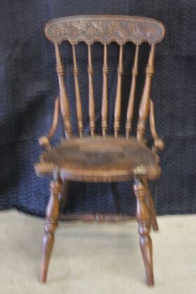 3719 Oak Chair with Acorns