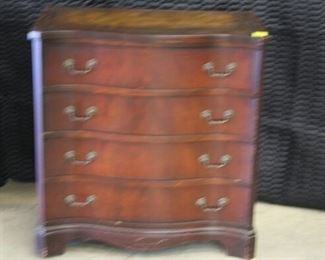 3730 Mahogany Leather Top 4 Drawer