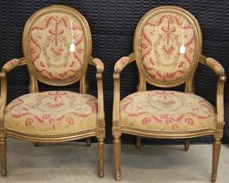 4669 Pr French Tapestry Chairs