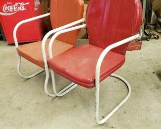 Vintage Metal Yard Chairs