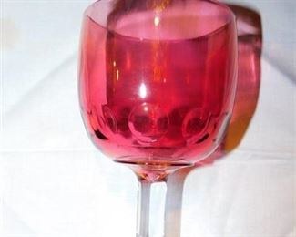 10 Ruby Red Goblets