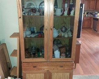 1 of 3 GLASS FRONT CABINETS