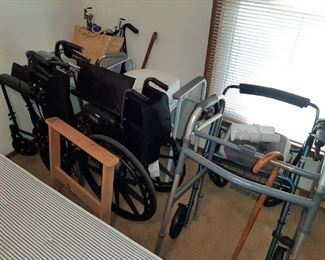 WHEEL CHAIR, WALKERS, ETC.