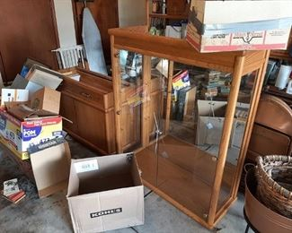 VERY NICE 2 PC. DISPLAY CABINET