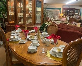 We will be having a drawing for this Beautiful Thomasville Dining Table with matching China Hutch, and four chairs. Also a large China set, stemware, dessert dishes, and a grocery certificate!   1 fire victim family will receive all this!  Must enter in person, for yourself only!  Drawing will be held on Sunday evening!