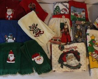 Dozens of Holiday Hand + Dish Towels