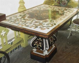 Pietra Dura Breakfast Table