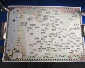 Beverly  Hills Movie Star Map Rare by Margaret Netz 1930's