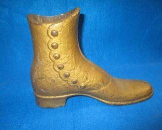 Cast Iron Boot Doorstop SOLD!