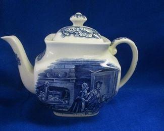 Liberty Blue Teapot