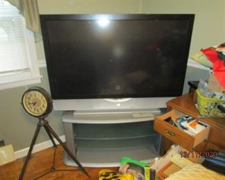 "50"" TV on stand (good for gaming)"