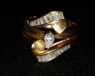 High quality 14k diamond wedding set