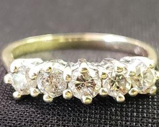 high quality 14k diamond ring