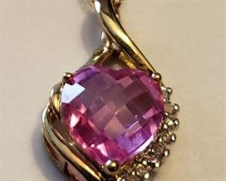 10k diamond accent pendant