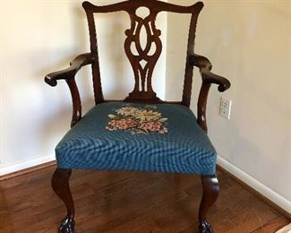 Chippendale Arm Chair sat in by George Washington