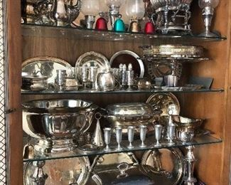 Beautiful silver and silver-plate items.  Great for holiday entertaining!
