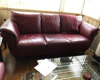 LEATHER DEN COUCH