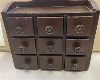 Wooden vintage jewelry box