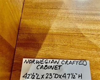 Norwegian crafted cabinet