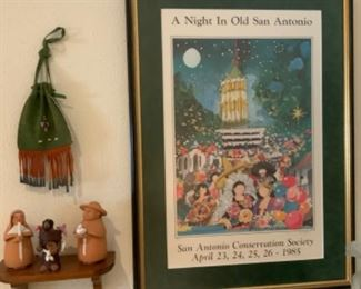 A Night In Old San Antonio San Antonio Conservation Society April 23-26 1985 Framed Picture