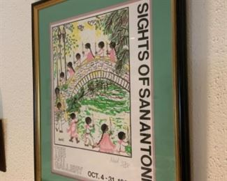 The Art Gallery Sights of San Antonio Oct. 4-31, 1082 Adriel 013/125 Framed Picture