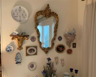 Meissen Wall Angels & Plate With Various Meissen Marks
