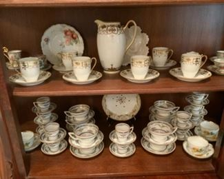 Handpainted Nippon Set-Lid Is Missing & Princess By Minton Cups & Saucers