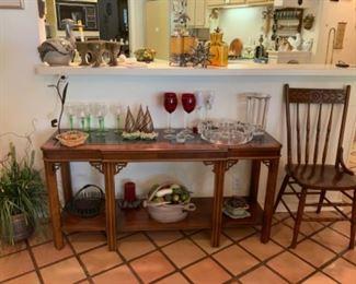 Great Lucite Vase & Serving Dish
