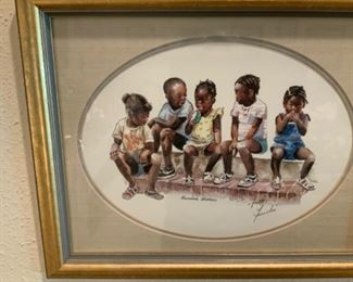 "Virginia Fouche' Bolton Print entitled ""Summer School"""