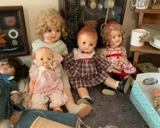Antique Dolls Including A Shirley Temple Doll