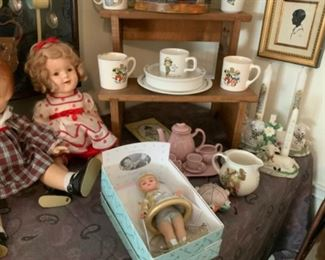 Madame Alexander Doll  Blast Off 2000 & Joan Walsh Anglund 1973 Baby Dishes Set