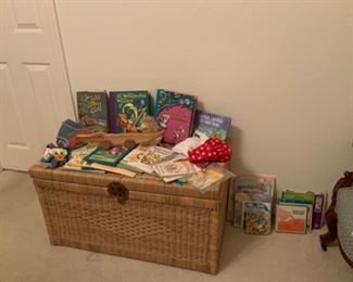 Wicker Trunk & Children's Books