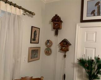 Vintage Cuckoo Clocks