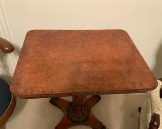 Circa 1825 Burl Wood Tilt Top Table-Waring & Gillow Ltd.