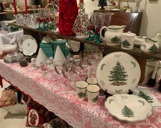 Christmas Decor Including Spode