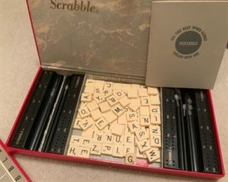 1953 Scrabble Game in Red Leatherette Case