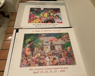 "Signed Caroline Shelton Posters ""A Night In Old San Antonio"""