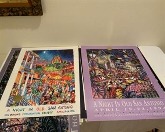 A Night In Old San Antonio Signed Posters by Thom Ricks & WB Thompson