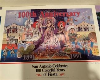 Poster singed by A. Montoya