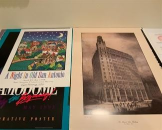 """""""A Night In Old San Antonio"""" signed by Christopher Moroney & Medical Arts Building of San Antonio Poster"""