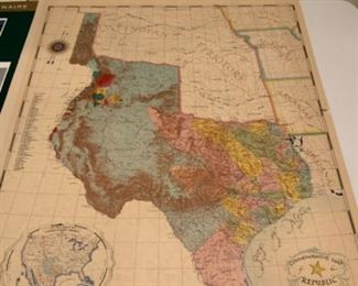 Commemorative Republic of Texas Map Published December 20, 1986